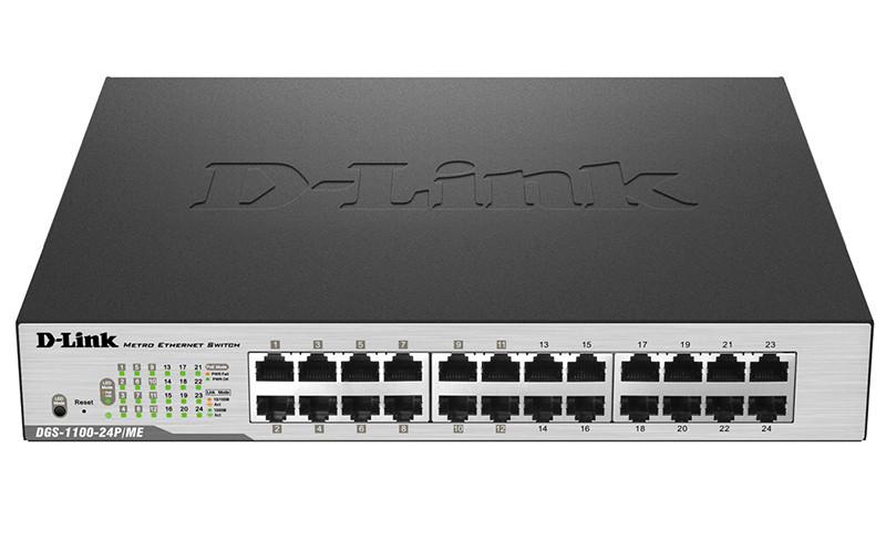 Коммутатор D-Link DGS-1100-24P/ME/B