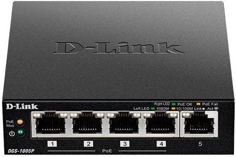Комутатор D-Link DGS-1005P