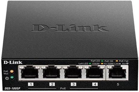 Комутатор D-Link DGS-1005P, фото 2