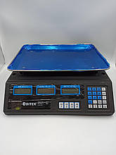 Торговые электронные весы с аккумулятором Вітек ACS 208 6V до 55 кг