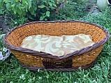 Лежанка для собаки з бортиками (подушка в подарунок), фото 3