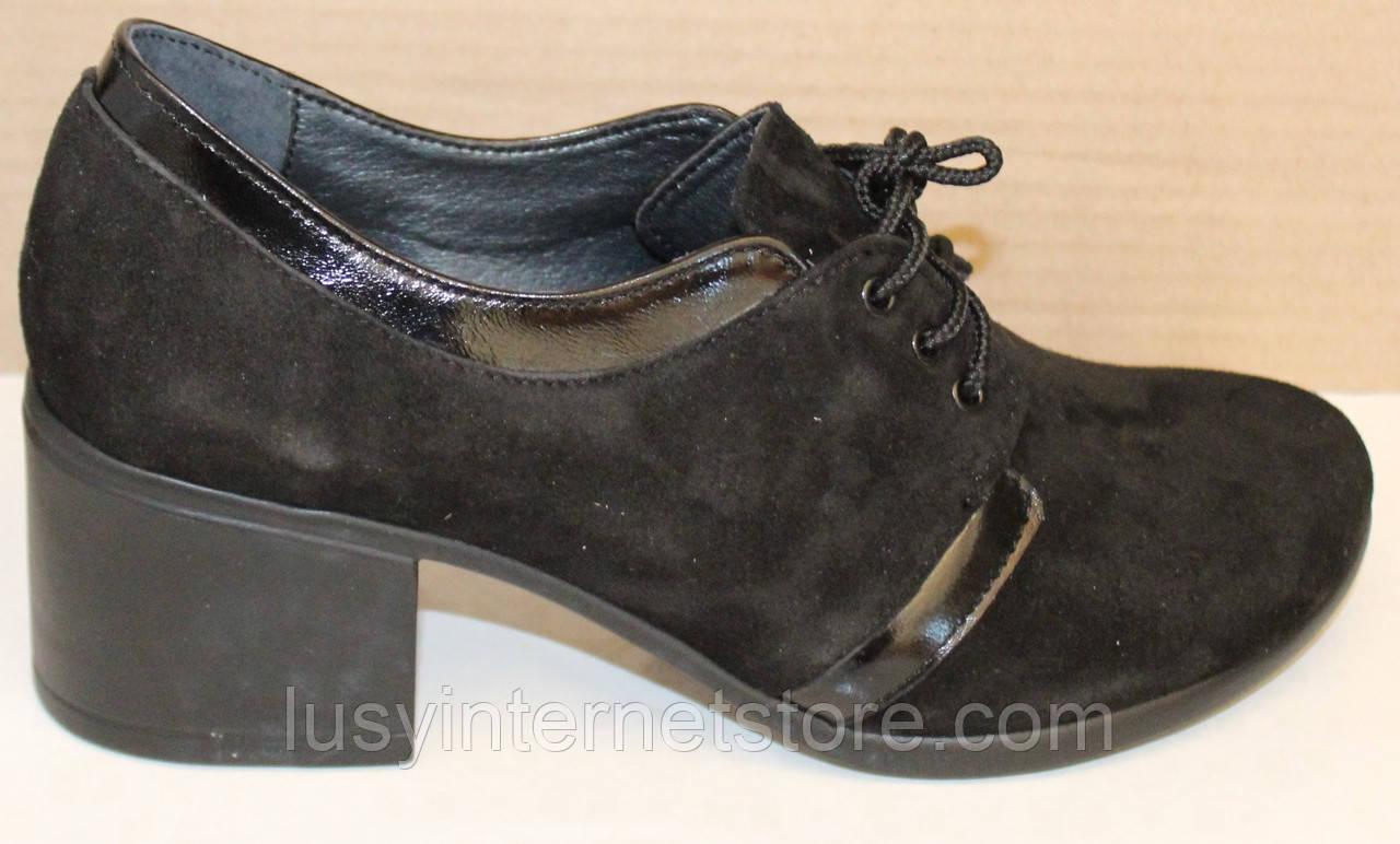 Туфли замшевые женские на каблуке от производителя модель БМ38-2