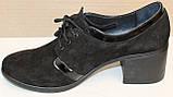 Туфли замшевые женские на каблуке от производителя модель БМ38-2, фото 3