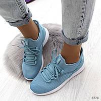Стильные женские кроссовки из текстиля+силикон на шнурках(36-41), фото 1