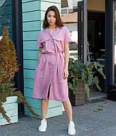 Платье-футболка женское розовое бренд ТУР модель Скарлет размер S, M, L