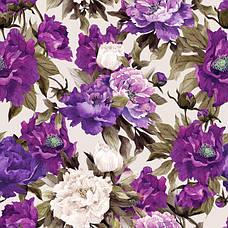 Принт Flowers, велюр с печатью, 200 грн/п.м