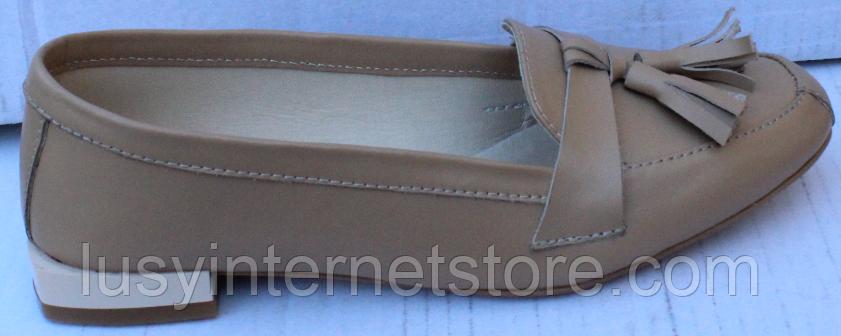 Туфли кожаные женские от производителя модель ФТ26-1