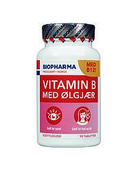 Витамин B с пивными дрожжами Biopharma - 90 таблеток Норвегия