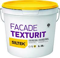 Атмосферостойкая структурная фасадная краска Siltek Facade Texturit (Силтек Фасад Текстурит) 9 л
