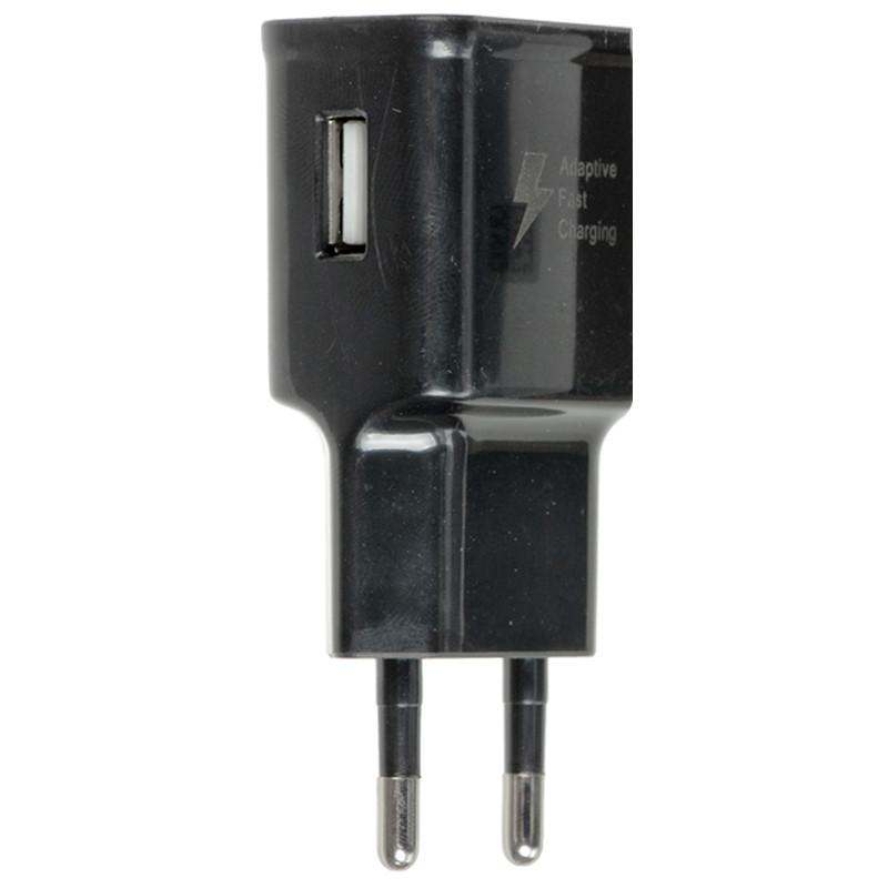 СЗУ Samsung Travel Charger + кабель USB to microUSB, в упак. Черный
