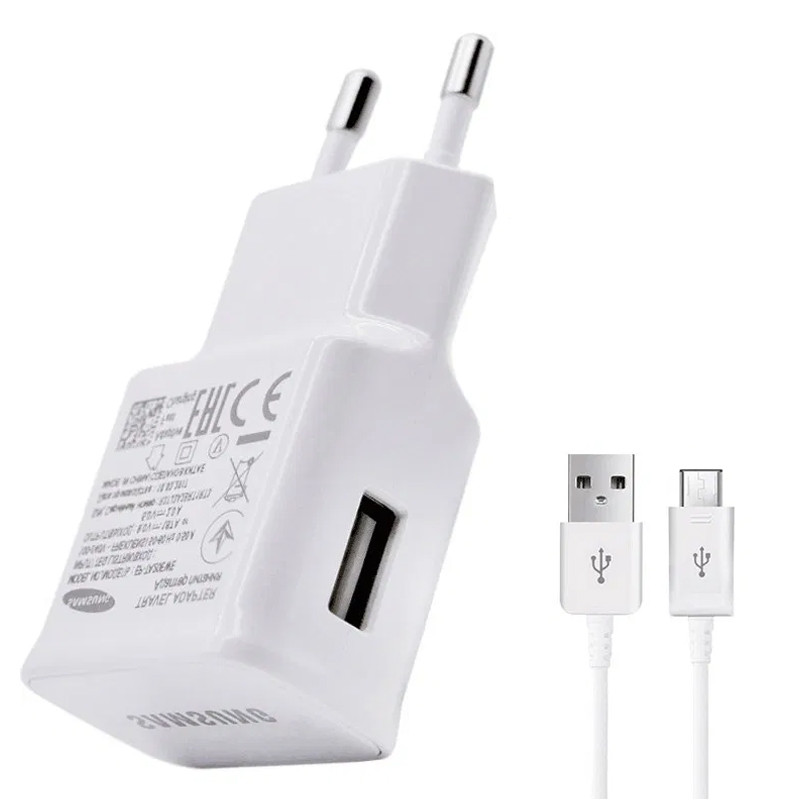 СЗУ Samsung Travel Charger (2A/5W) + кабель USB to microUSB, в упак.