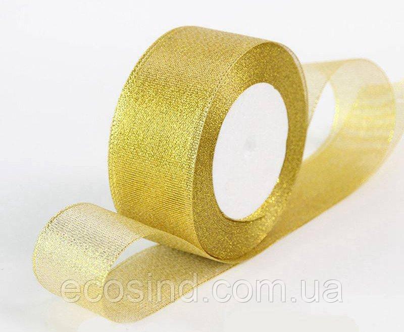 Лента парча 4 см  бунт - 23 метра, цвет золото (сп7нг-2831)