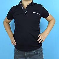Черное поло для мальчика с карманом тм Blueland размер 116