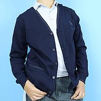 Кофта для мальчика темно-синяя на пуговицах тм Blueland размер 11,13,15
