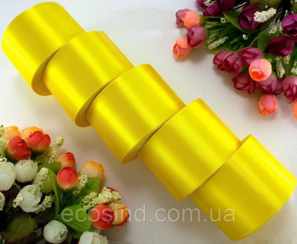 """(5 рулонов) Лента атласная 5см ширина (25 ярдов) """"LiaM"""" Цена за блок Цвет - Желтый (сп7нг-3412)"""
