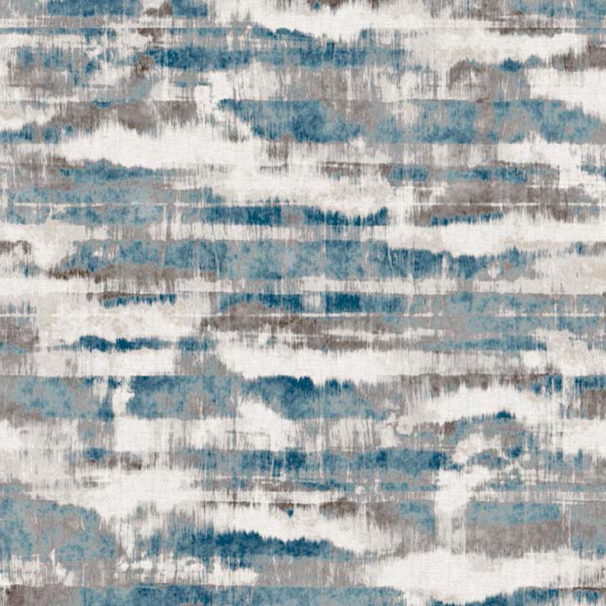 Мебельная ткань Marble Blue 370443/2006, велюр з принтом