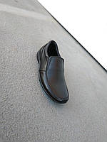 Туфли мокасины детские подростковые кожаные 35-39 р., фото 1