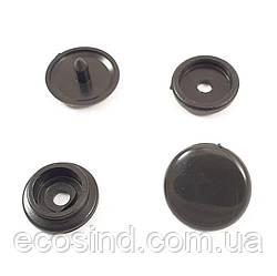 Кнопка пластиковая 15 мм Черная 50шт. (СТРОНГ-0345)