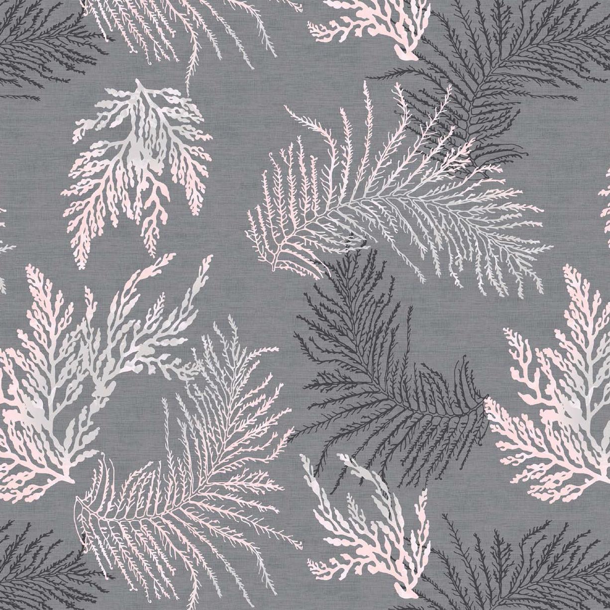 Мебельная ткань Oceana Grey 381019/2008, велюр з принтом