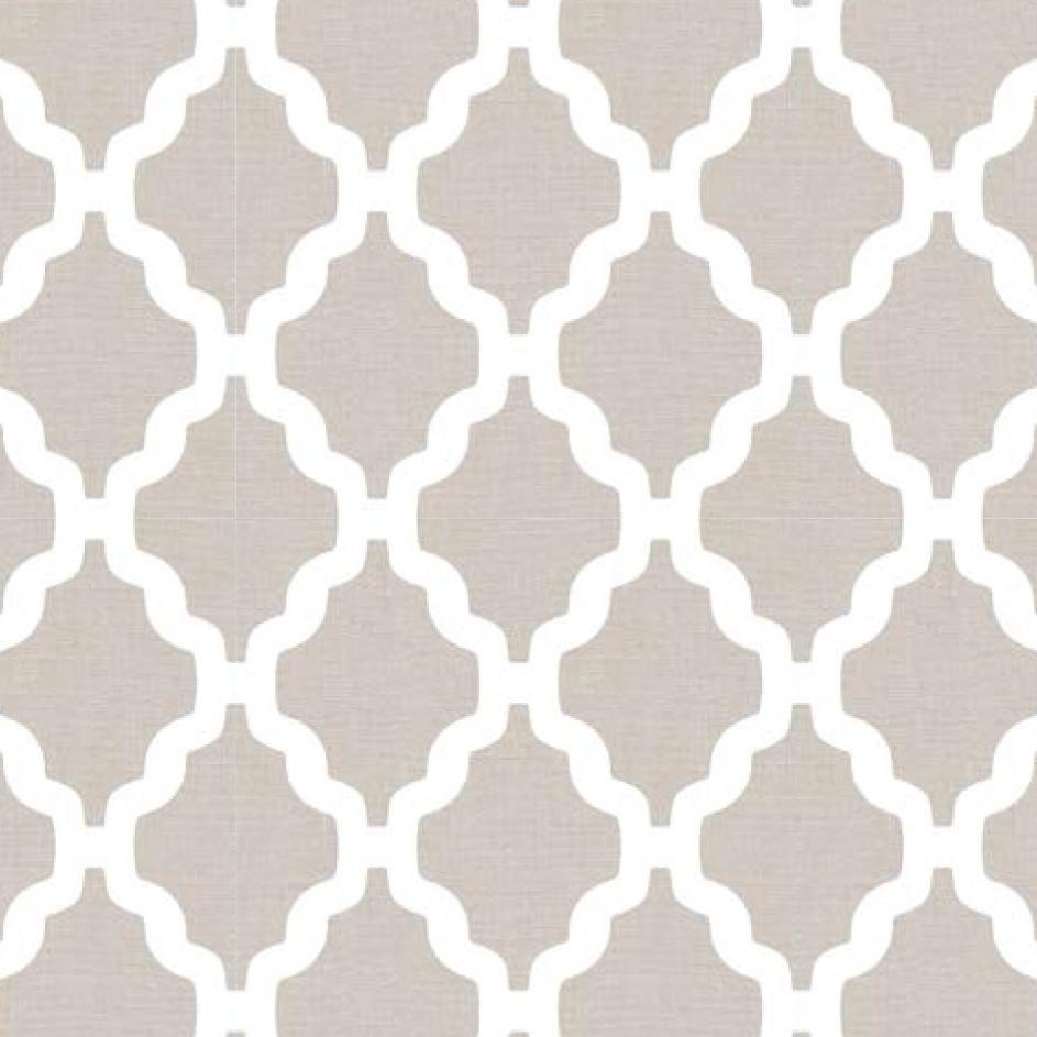 Мебельная ткань Casablanca Beige 371198/110, велюр з принтом