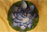 Цветок Лотоса декоративный плавающий большой 27 х27х7 см(водяная лилия) желтый, фото 5