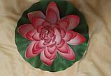 Цветок Лотоса декоративный плавающий большой 27 х27х7 см(водяная лилия) желтый, фото 6