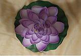 Цветок Лотоса декоративный плавающий большой 27 х27х7 см(водяная лилия) желтый, фото 8