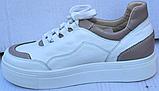 Кроссовки женские кожаные от производителя модель ФТ29, фото 3