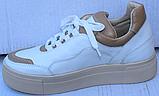 Кроссовки женские кожаные от производителя модель ФТ29, фото 8