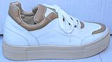 Кроссовки женские кожаные от производителя модель ФТ29, фото 7