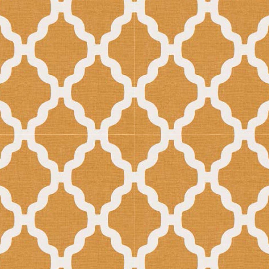 Мебельная ткань Casablanca Yellow 371198/104, велюр з принтом