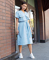 Платье-футболка женское голубое бренд ТУР модель Скарлет размер S, M, L