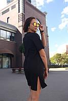 Платье-футболка женское черное цвета бренд ТУР модель Сарина (Sarina) размер S, M, L