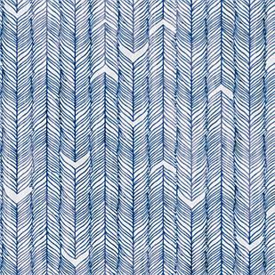 Мебельная ткань Moonlight Blue 371185/3106, велюр з принтом