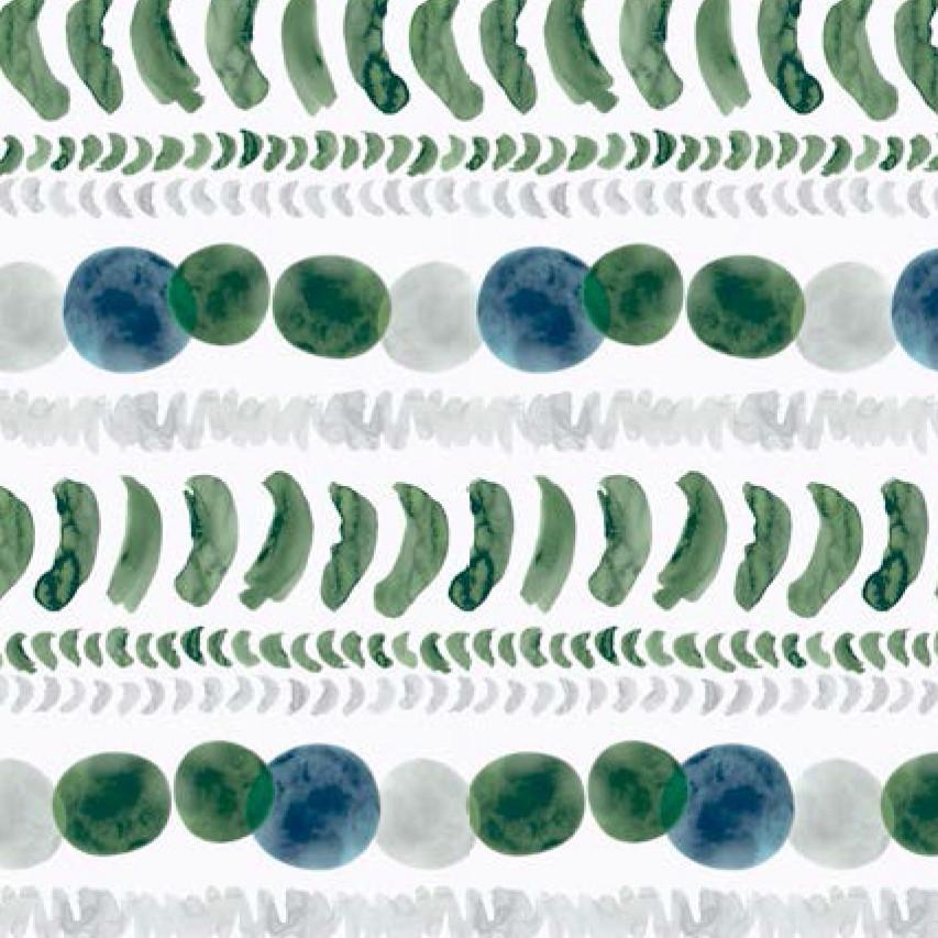 Мебельная ткань Moonlight Green 371193/3102, велюр з принтом