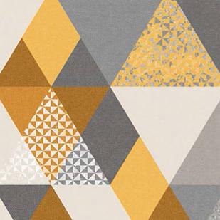 Меблева тканина Triangle Mustard 371171/101, велюр з принтом
