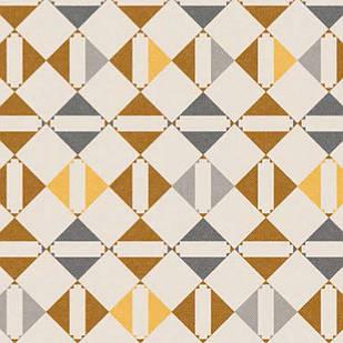 Мебельная ткань Triangle Mustard 371204/101, велюр з принтом