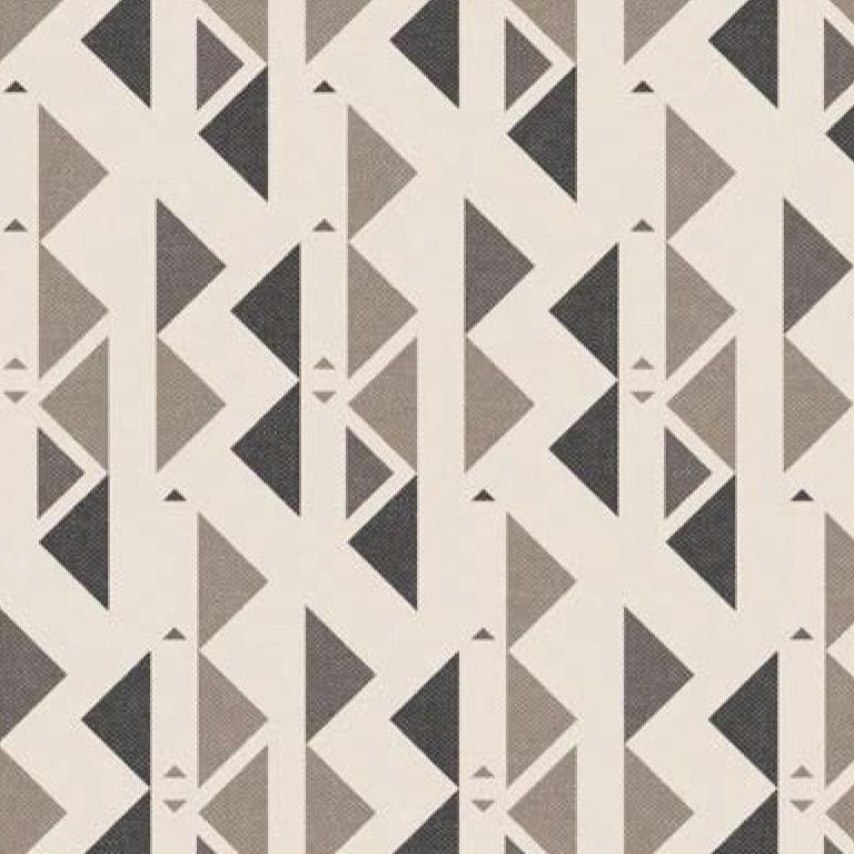 Мебельная ткань Triangle Beige 371203/105, велюр з принтом