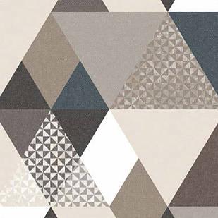Меблева тканина Triangle Beige 371171/105, велюр з принтом