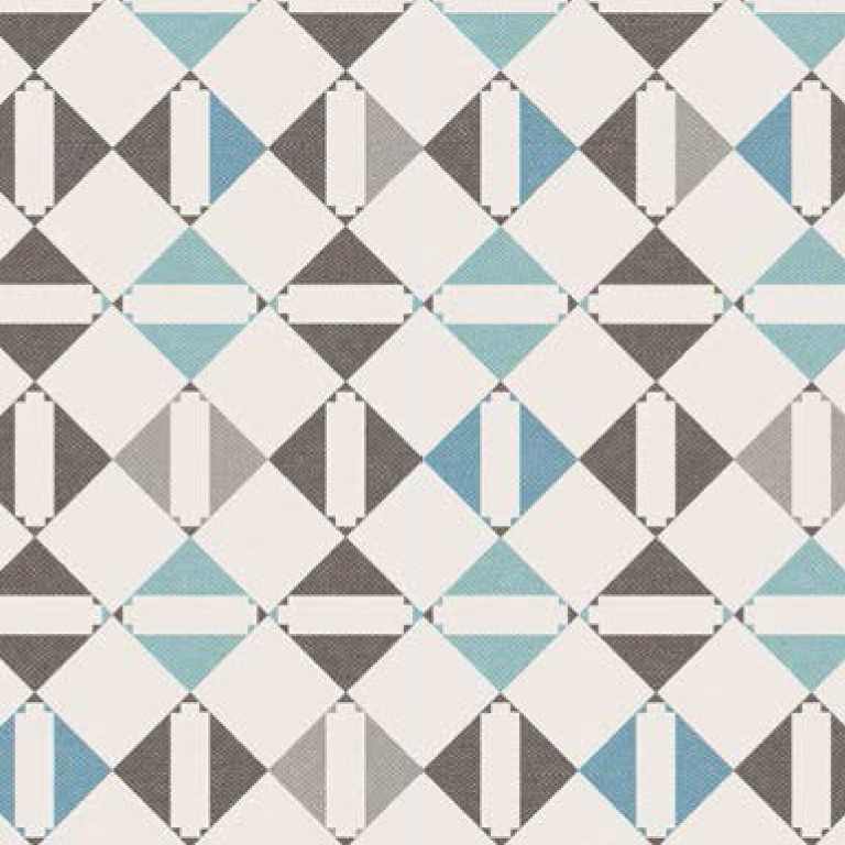 Мебельная ткань Triangle Grey 371204/104, велюр з принтом