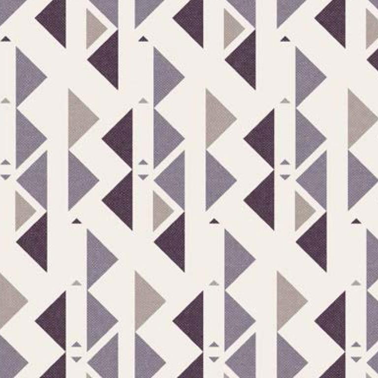 Мебельная ткань Triangle Lilac 371203/108, велюр з принтом