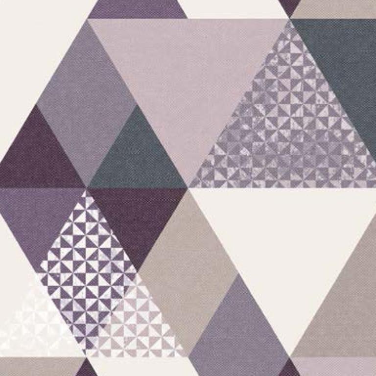 Мебельная ткань Triangle Lilac 371171/108, велюр з принтом