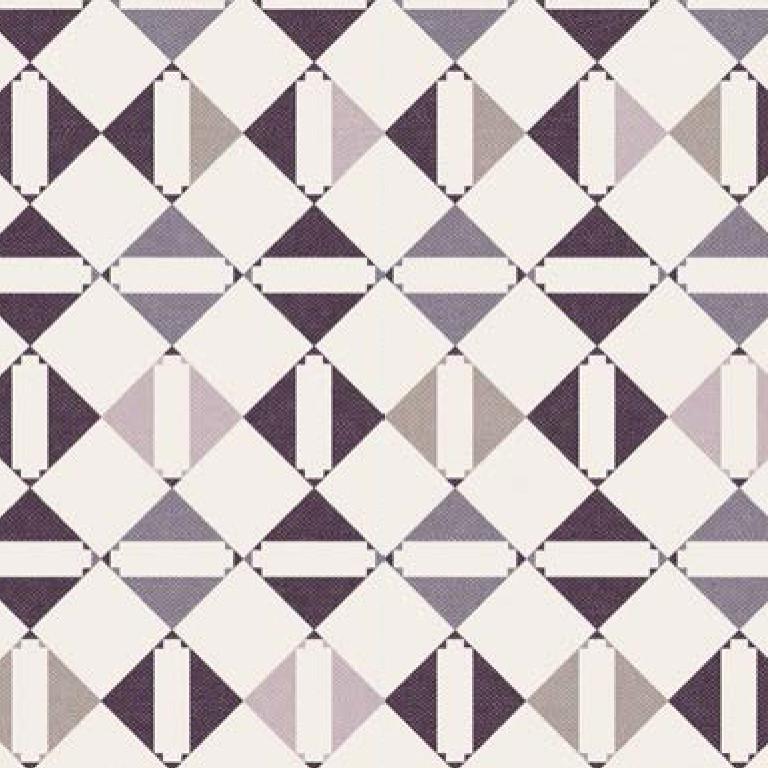 Мебельная ткань Triangle Lilac 371204/108, велюр з принтом