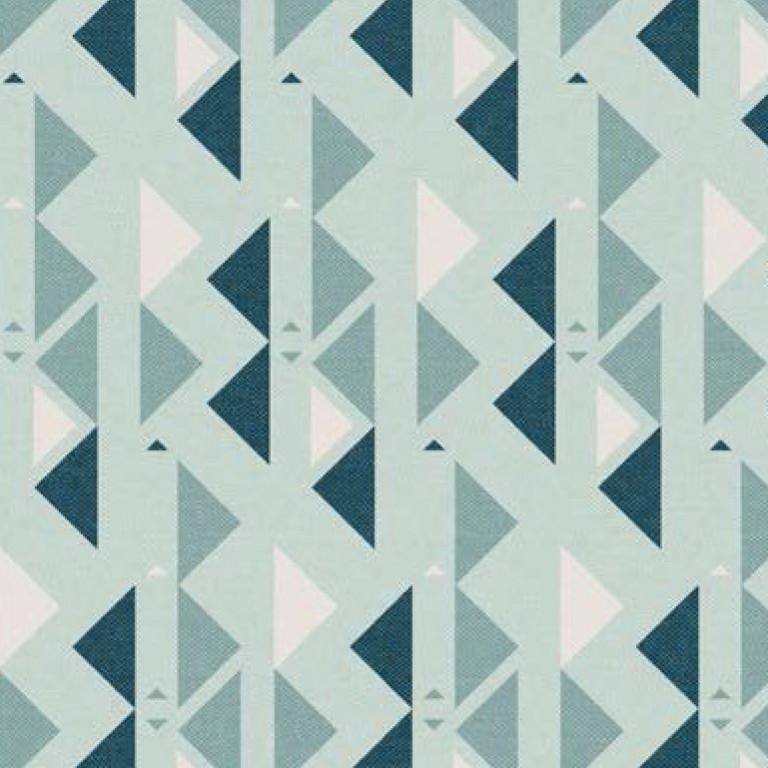 Мебельная ткань Triangle Mint 371203/107, велюр з принтом