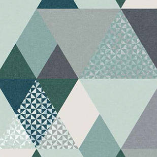 Меблева тканина Triangle Mint 371171/107, велюр з принтом