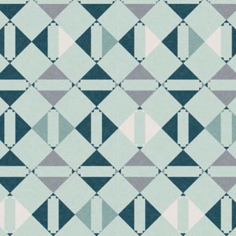 Мебельная ткань Triangle Mint 371204/107, велюр з принтом