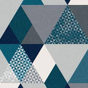 Меблева тканина Triangle Petrol 371171/102, велюр з принтом