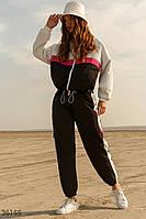 Черный костюм в стиле color block S,M,L,XL,2XL,3XL, фото 1