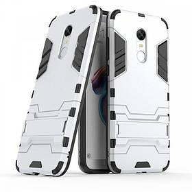 Ударопрочный чехол-подставка Transformer для Xiaomi Redmi 5 с мощной защитой корпуса Серый / Metal slate.
