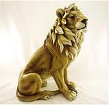 Лев напольный большой 66*48 см декоративная фигура из полистоуна, фото 2